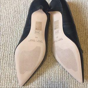 White House Black Market Shoes - Whbm black and white kitten heel shoes
